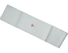 Purificador blanco con Cruz roja bordada