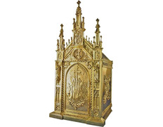 Sagrario gótico de bronce