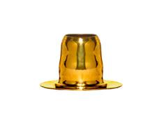 Capiteles para velas de cera dorado