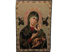 Tapiz Icono Bizantino Virgen Perpetuo Socorro