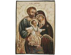 Tapiz icono bizantino Sagrada Familia