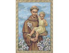 Tapiz de San Antonio de Padua con el Niño