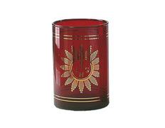 Vaso Santísimo de cristal rojo decorado