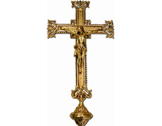 Cruz parroquial con elementos cincelados