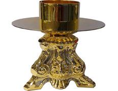 Candelabro de metal para altar