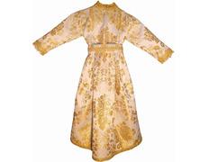 Vestido brocado para imagen de la Virgen María