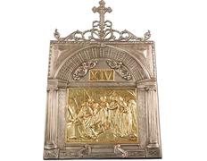 Vía Crucis de bronce con baño de plata