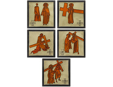Vía Crucis con estaciones de cerámica