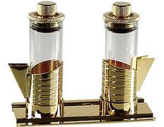 Vinajeras de cristal con tapón hermético