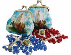 Rosario de la Virgen de Fátima con rosariera