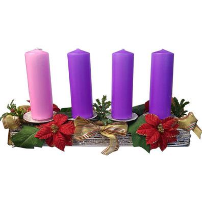 Corona de adviento con velas velas de adviento y corona - Velas adviento ...