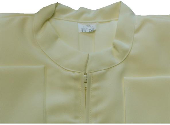 Alba beige lisa confeccionada en poliéster