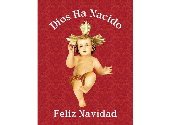 Colgadura del Niño Jesús para Navidad Dios ha nacido