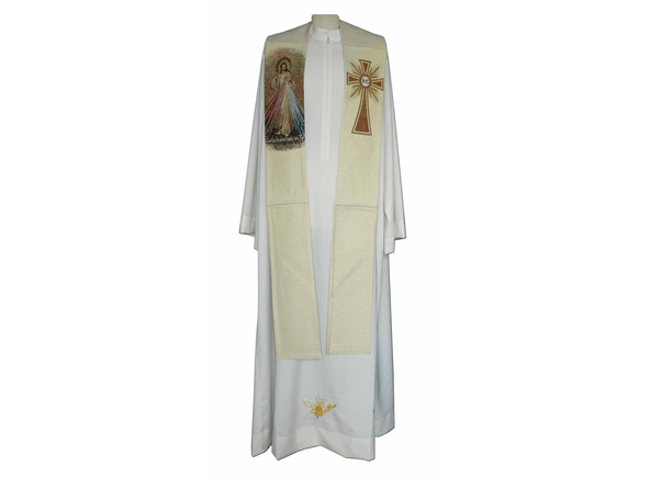 Estola con Cristo de la Divina Misericordia bordado