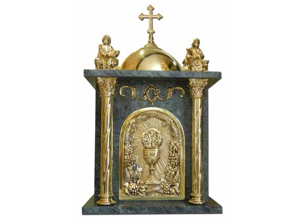 Sagrario de bronce y m rmol con cruz y los cuatro - Caracteristicas del marmol ...