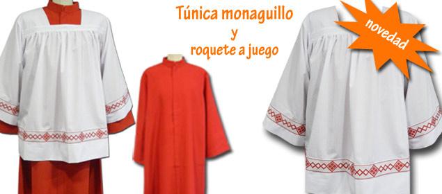 Nueva túnica de monaguillo roja