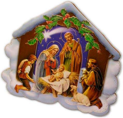 Imagenes Sagrada Familia Navidad.Belen Con La Sagrada Familia Y Pastores Adorando