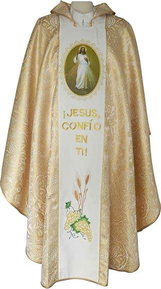8969f746cd0 Casulla dorada - Casulla Divina Misericordia - Casulla damasco
