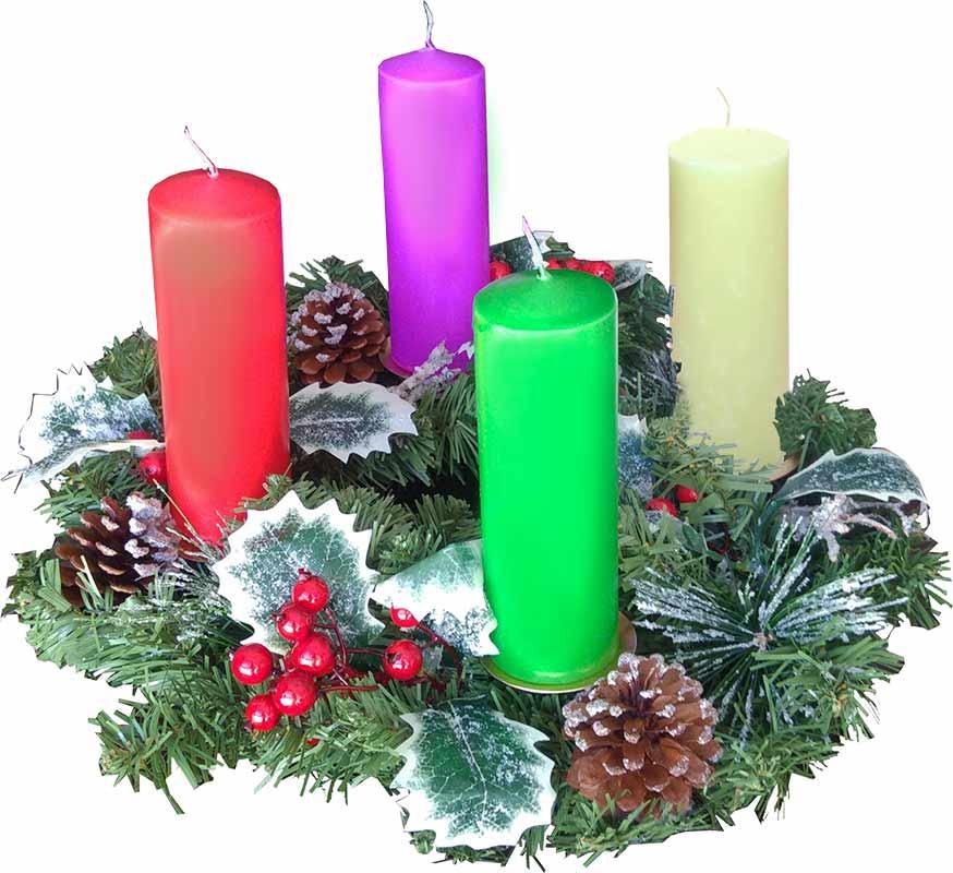 Velas Y Coronas De Adviento 2021 Preparación Para Navidad