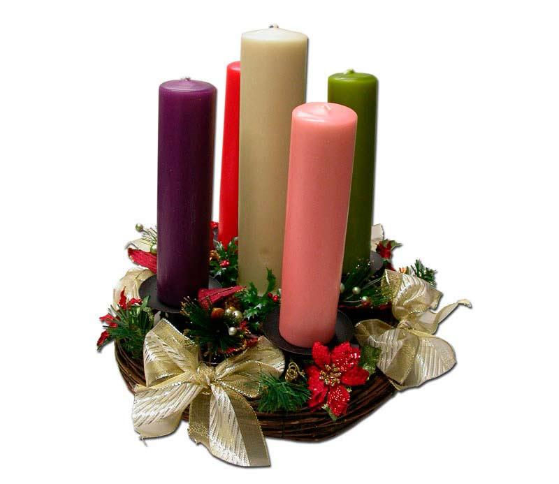 La navidad significado de la corona de adviento - Velas adviento ...