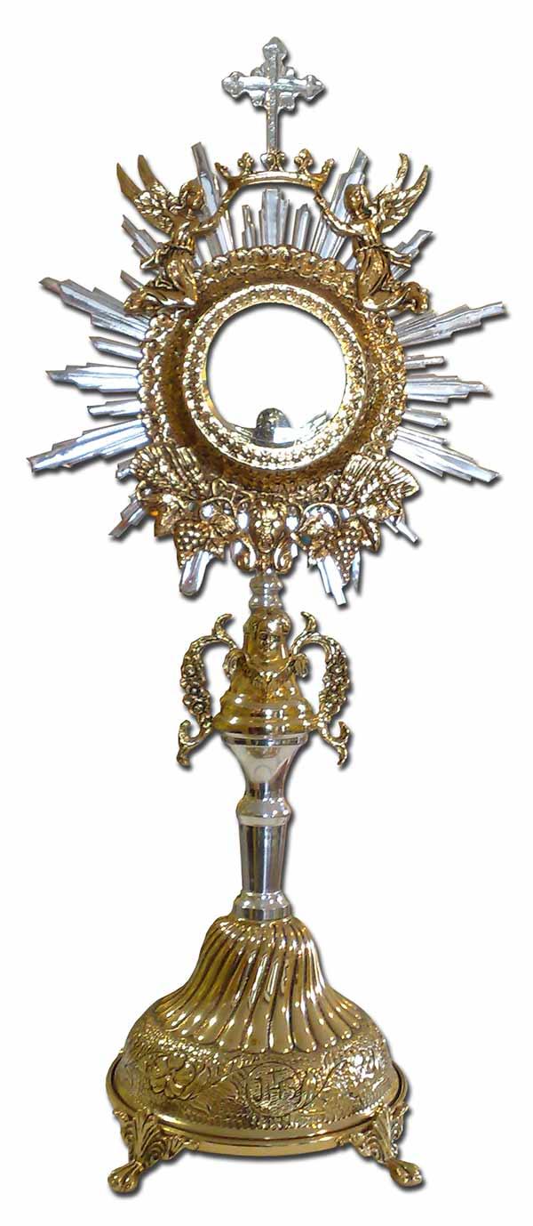 b4e88f017f5 Custodia religiosa de metal - Custodia para uso parroquial