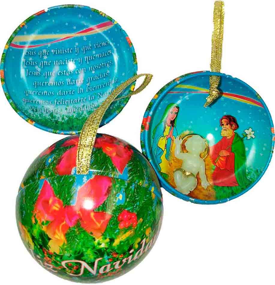 Decoraci n religiosa para rbol de navidad bola ni o jes s - Bola arbol navidad ...