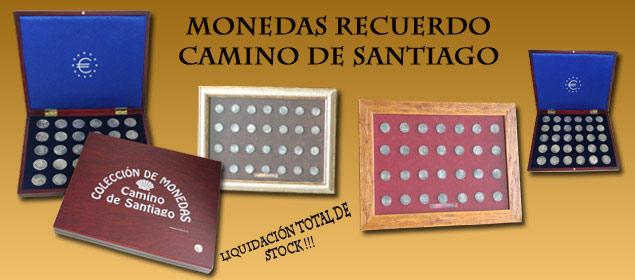 Modedas souvenir etapas Samino de Santiago