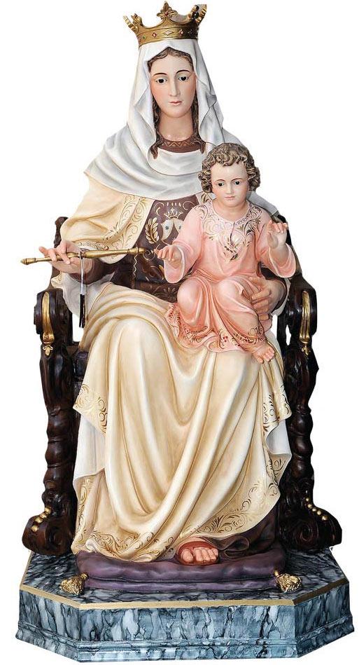 virgen sentada con niño