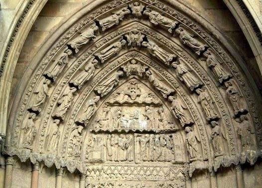 Imagen tímpano puerta San Froilán, Catedral de León