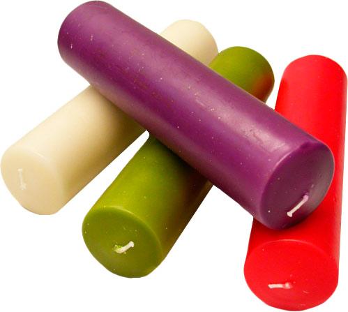 Velas de adviento en los cuatro colores lit rgicos - Velas adviento ...